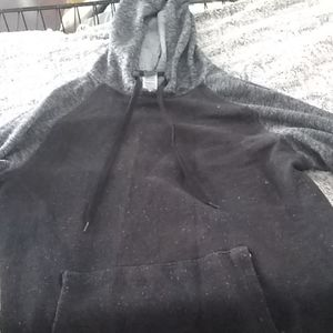 Black and grey hooded sweatshirt